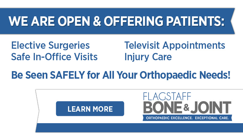 Be Seen SAFELY for All Your Orthopaedic Needs!